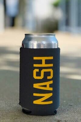 NASH Koozie-Charcoal/Gold