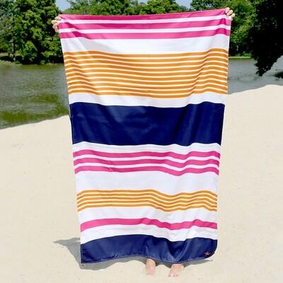 Microfiber Paradise Stripe Pink/Mint Towel