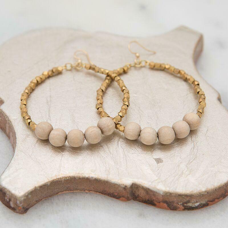 Sand Golden Row Earrings