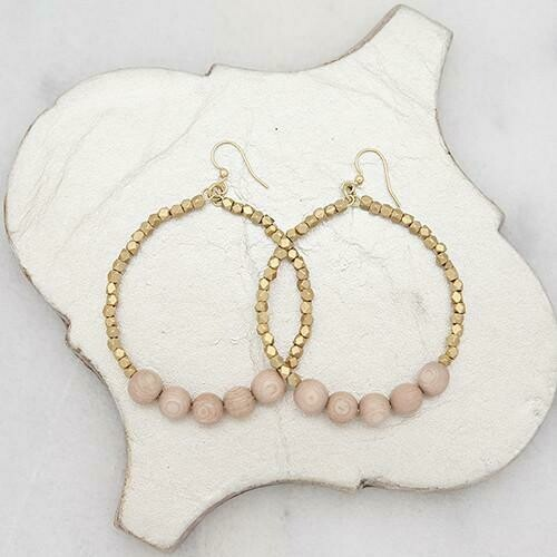 Rose Golden Row Earrings