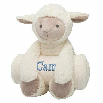 Lamb Bedtime Huggie with Blanket