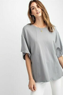 Half Sleeve Knit Boxy Top