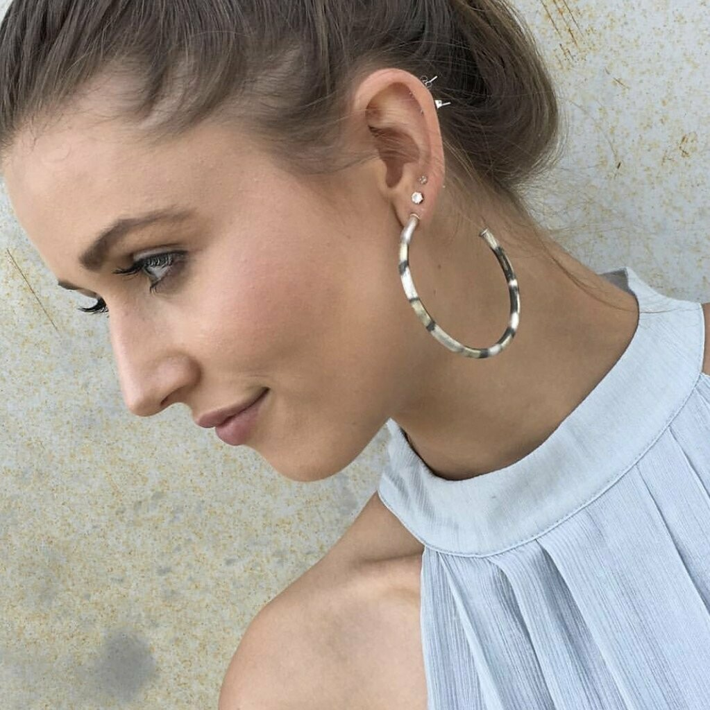Burnished Small Round Hoops