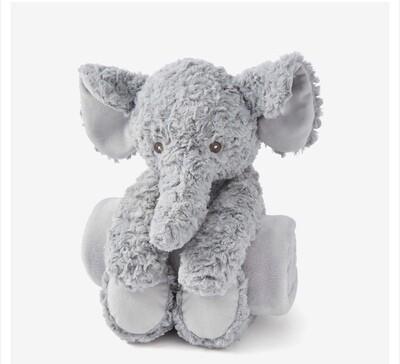 Elephant Swirl Bedtime Huggie with Blanket