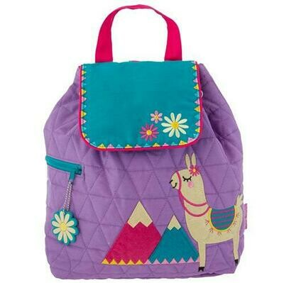Llama Quilted Backpack