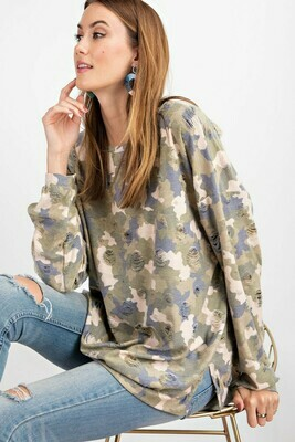 Long Sleeve Faded Sage Top