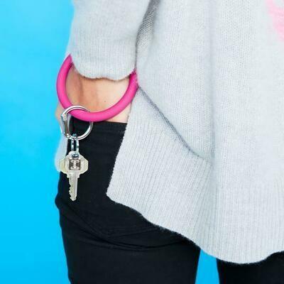 I Scream Pink Silicone Key Ring