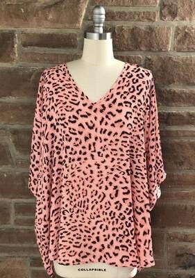 Leopard Print V-Neck Top