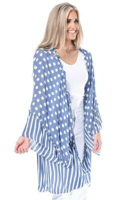 Blue Polka Dot Kimono