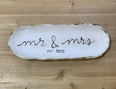Mr and Mrs Est 2020 Tray