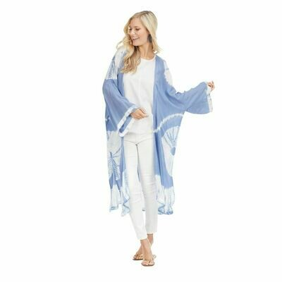Athena Tye Dye Kimono-Light Blue