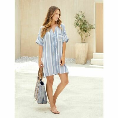 Tanner Stripe Cover-Up
