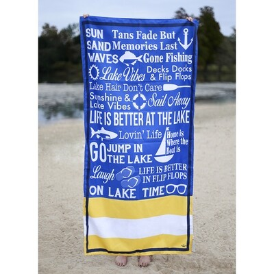 Microfiber Lanier Royal Blue Towel