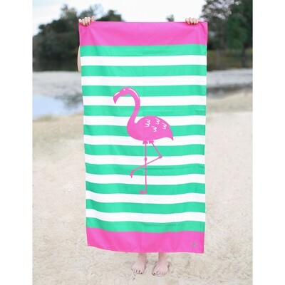Kid's Microfiber Flamingo Towel