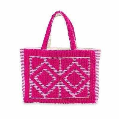 Handloom Tote-Pink
