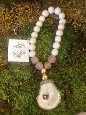 Pink Grit & Grace Oyster Blessing Beads