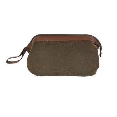 Dark Brown Large Toiletries Case/Dopp Kit