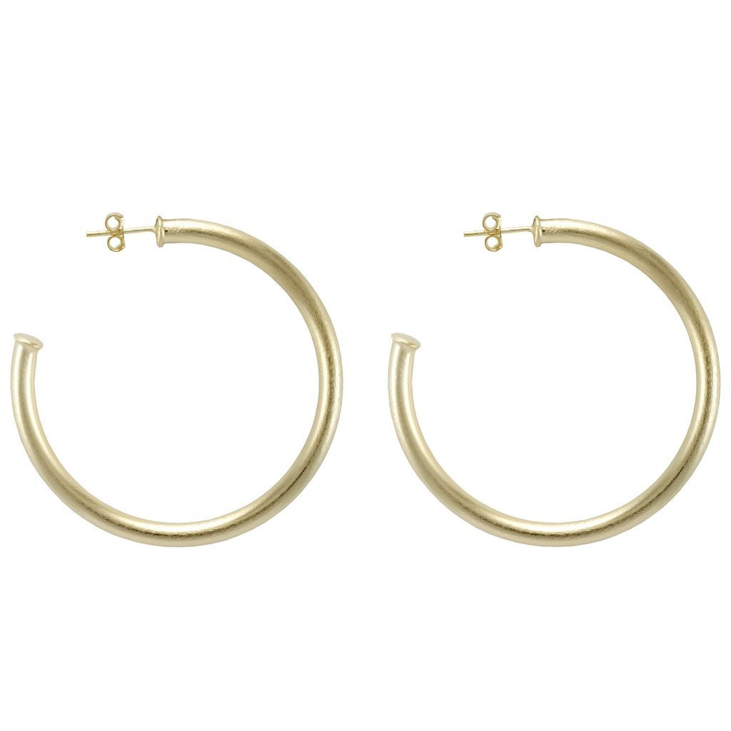 Brushed Gold Small Everbody's Favorite Hoops