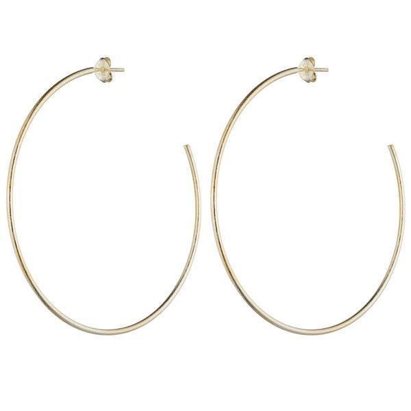 Brushed Gold Jillian Hoop Earrings