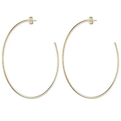 Shiny Gold Jillian Hoop Earrings