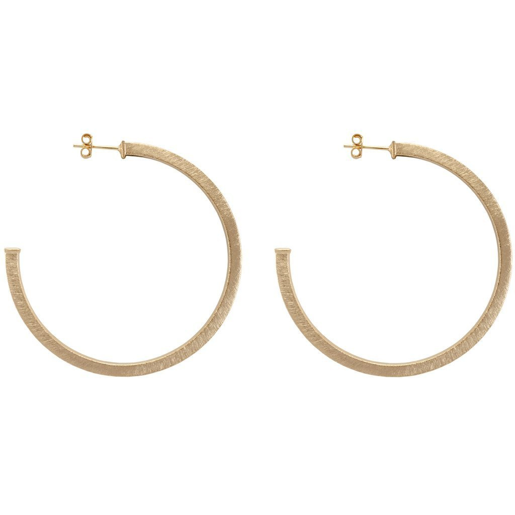 Brushed Gold Perfect Hoops