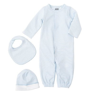 Striped Blue Layette Gift Set