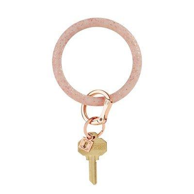 Rose Gold Confetti Silicone Key Ring