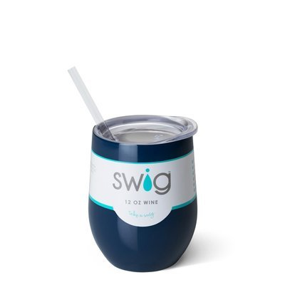 Navy 12oz Stemless Wine Cup