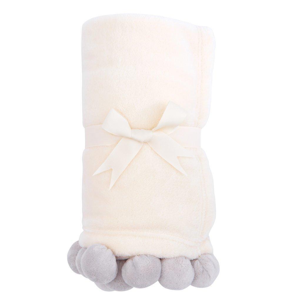 Grey Pom Pom Blanket