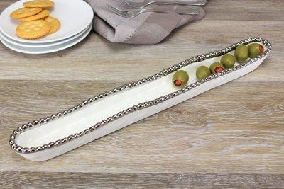 Porcelain Olive Serving Dish