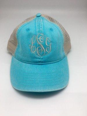 Aqua Comfort Colors Trucker Hat