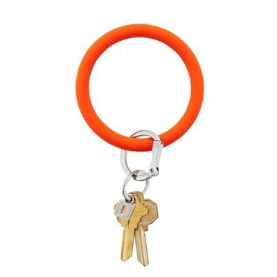 Orange Silicone Key Ring