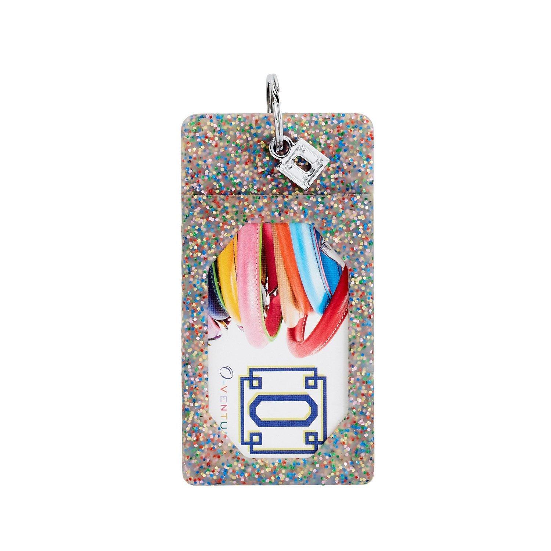 Rainbow Confetti ID Case