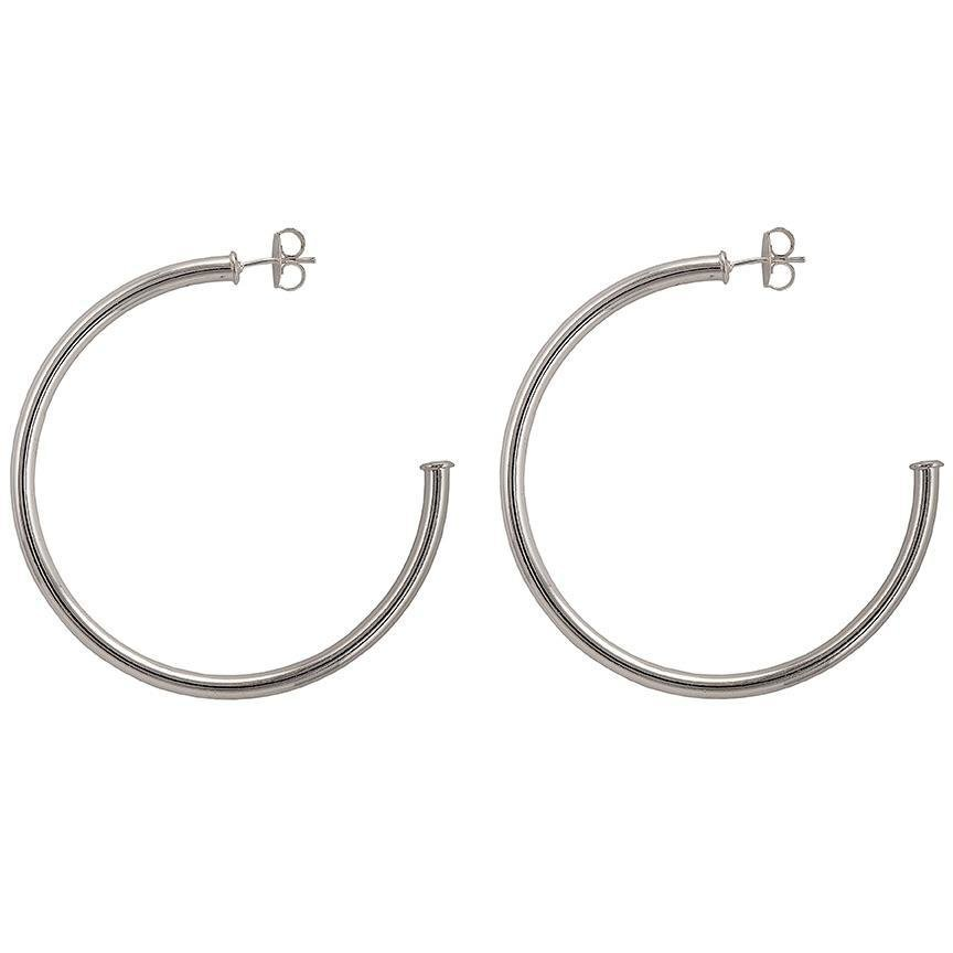Shiny Silver Everybody's Favorite Hoops