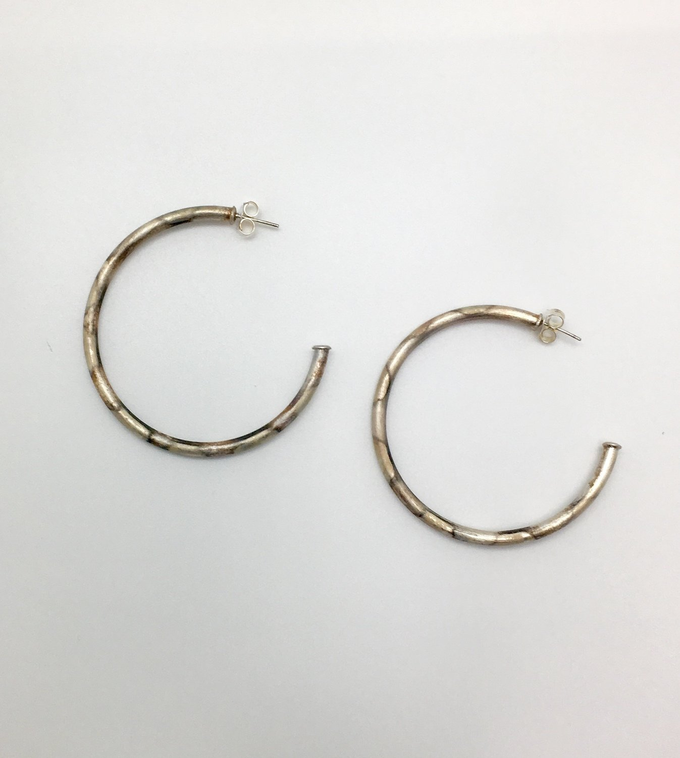 Fire Brushed Hoops