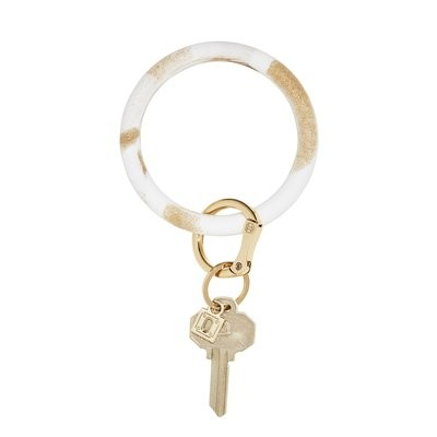 Gold Rush Marble Silicone Key Ring