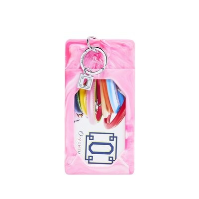 Tickled Pink Marble ID Case
