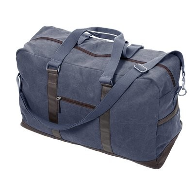 Denim Washed Canvas Large Duffle