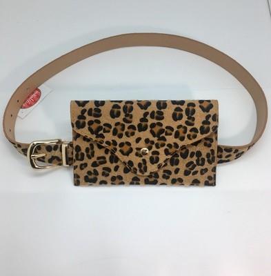 Leopard Envelope Belt Bag