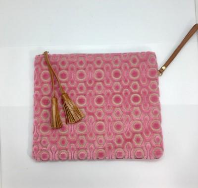 Pink Retro Wristlet