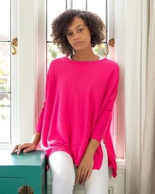 Pink Crewneck Travel Sweater
