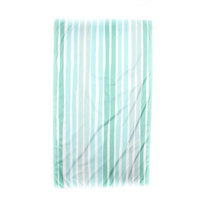 Microfiber Aruba Stripe Mint and Pink Towel