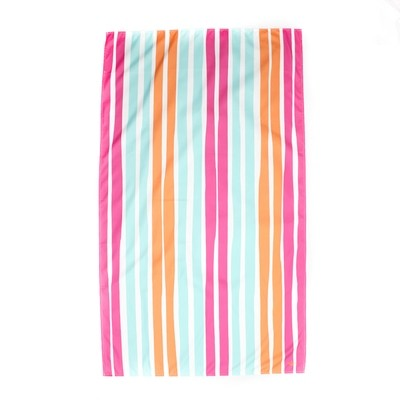 Microfiber Aruba Stripe Pink Towel