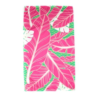 Microfiber Island Palm-Hot Pink Towel