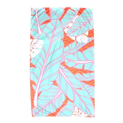 Microfiber Island Palm Orange Towel
