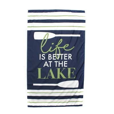 Microfiber Life is Better at the Lake Navy Towel