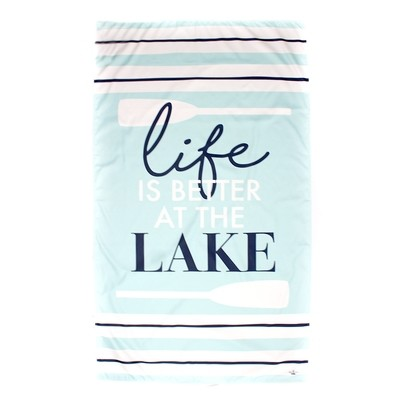 Microfiber Life is Better at the Lake Light Blue Towel