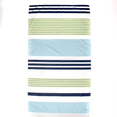 Microfiber Paradise Stripe Blue/Green Stripe Towel