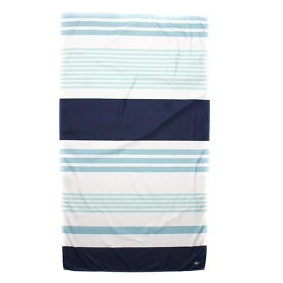 Microfiber Paradise Stripe Navy/Light Blue Towel