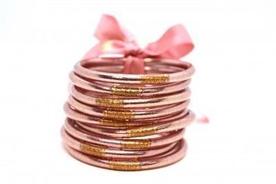 Set of Three Rose Gold Bangles